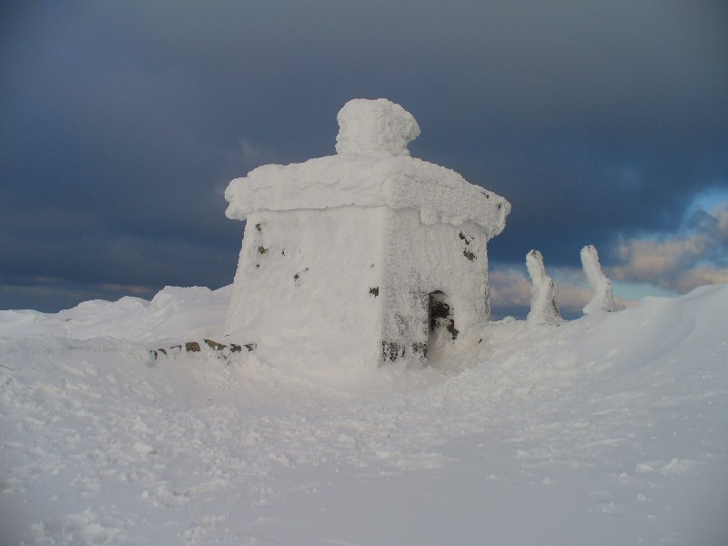 Slieve Donard Summit Snow Hole Camp Northern Ireland