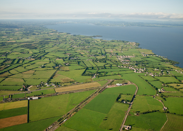 The old WW2 runway near Coagh and Lough Neaghz