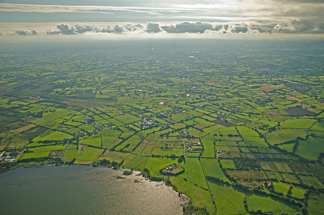 Looking south from the edge of Lough Neagh