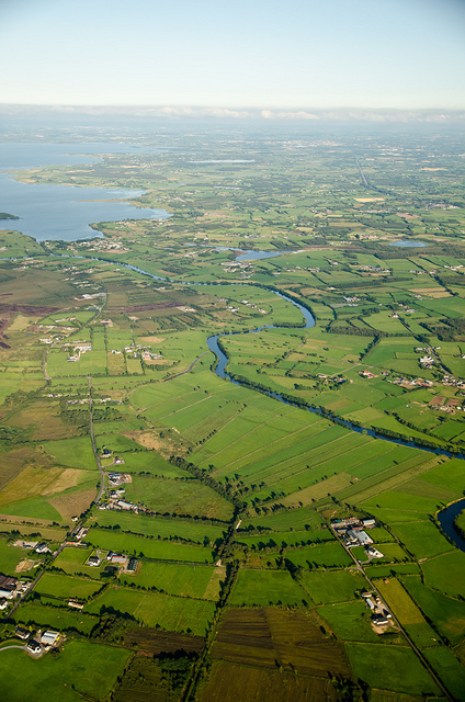 The River Blackwater running towards Lough Neagh