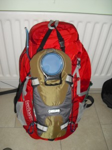 Camelbak attached to front