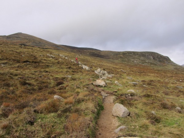 Slieve Binnian has a brand new path, there's no longer any need to hug the wall and as a result the ascent is much easier.