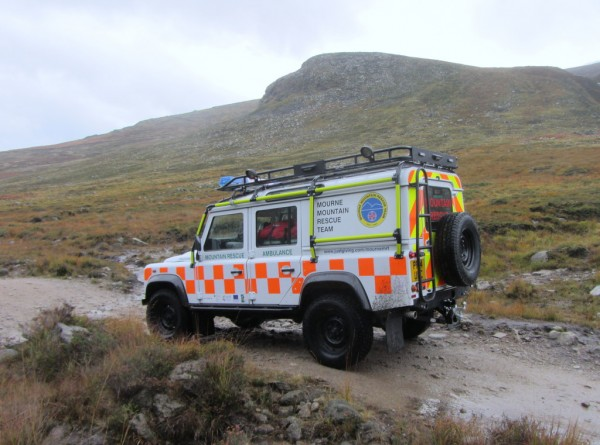 Mourne Mountain Rescue have a nice shiny new Landrover. This was it's first official outing.