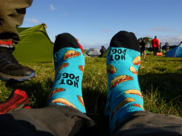 and the lovely feeling of nice dry socks