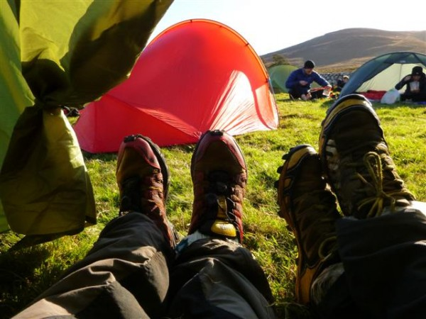 followed by a wee rest in the tent