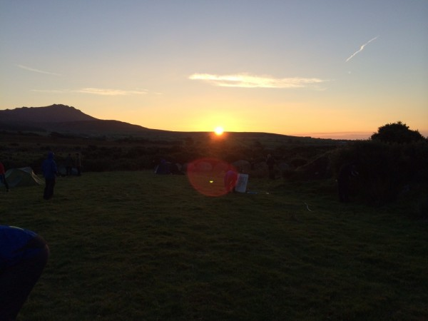 Nice sunrise, porridge water and a day 2 that was looking hotter!!