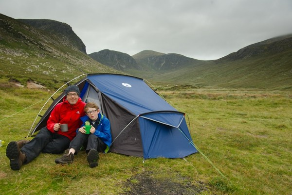 A cool and windy evening half way up the Annalong Valley. Shortly before the DoE lads arrived.